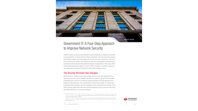 Government IT: A Four Step Approach to Improve Network Security