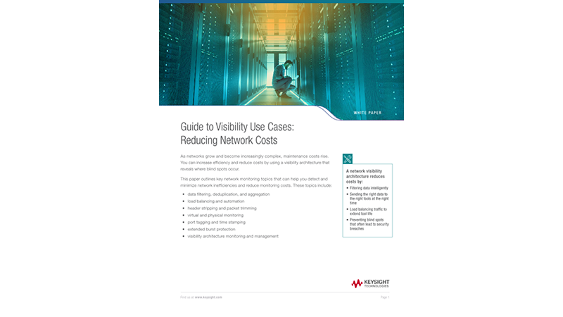 Guide to Visibility Use Cases: Reducing Network Costs