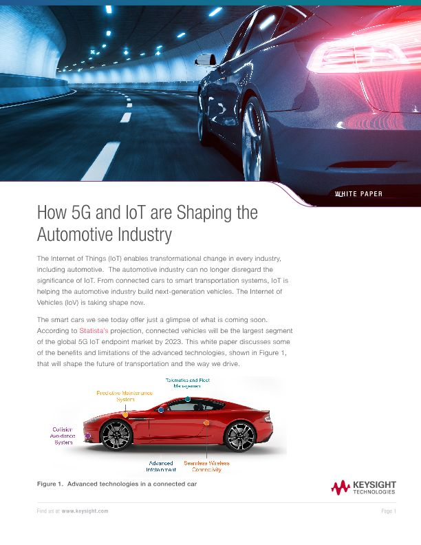How 5G and IoT are Shaping the Automotive Industry