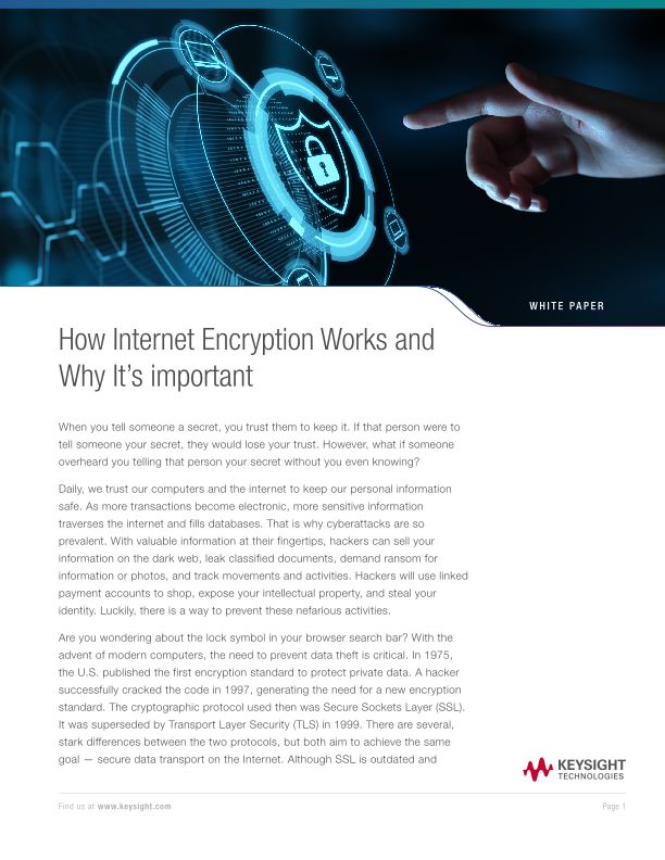 How Internet Encryption Works and Why It's Important