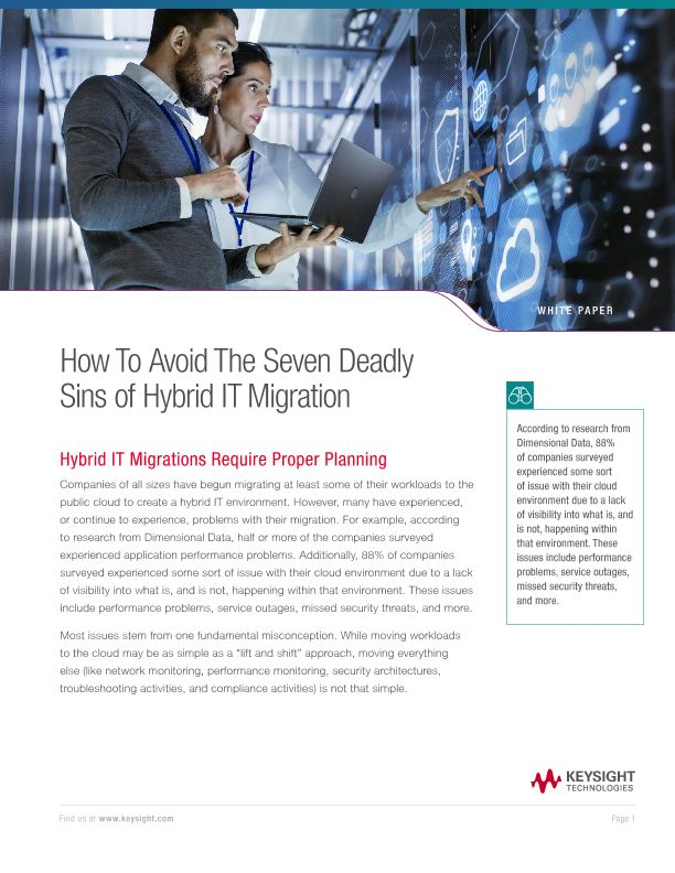 How to Avoid the Seven Deadly Sins of Hybrid IT Migration