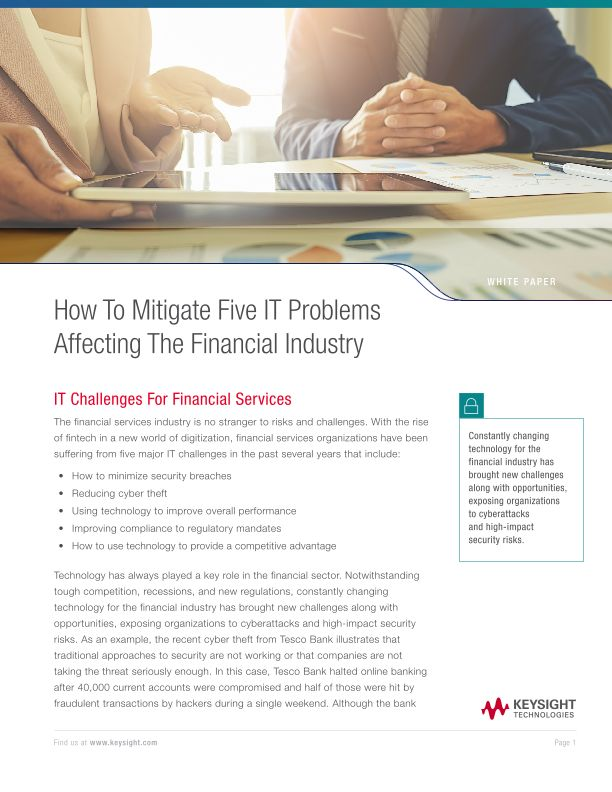 How To Mitigate Five IT Problems Affecting The Financial Industry
