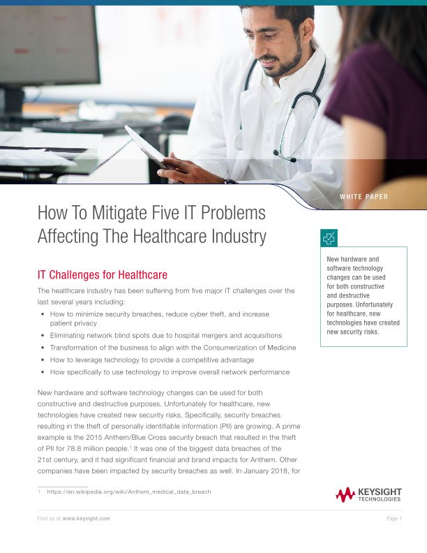 How To Mitigate Five IT Problems Affecting The Healthcare Industry