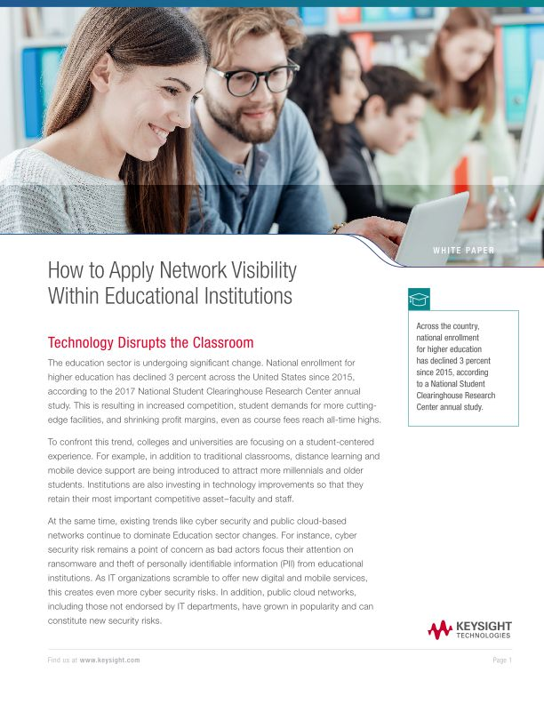 How to Apply Network Visibility Within Educational Institutions