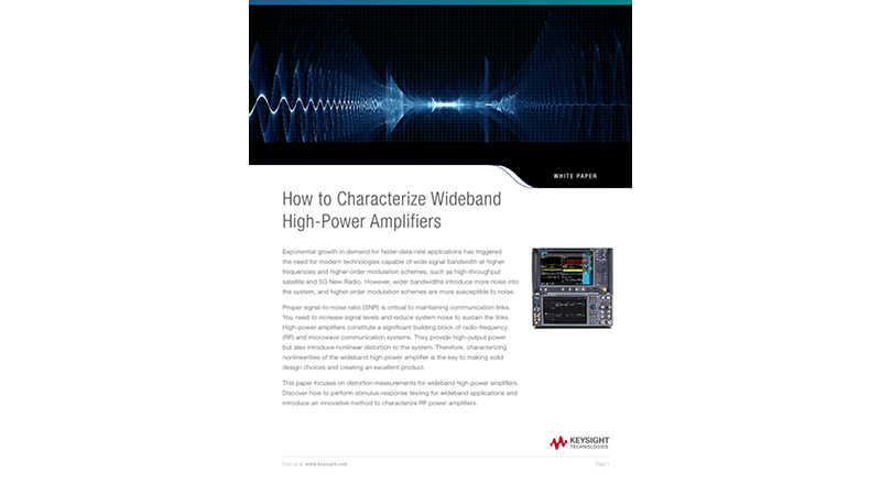 How to Characterize Wideband High-Power Amplifiers