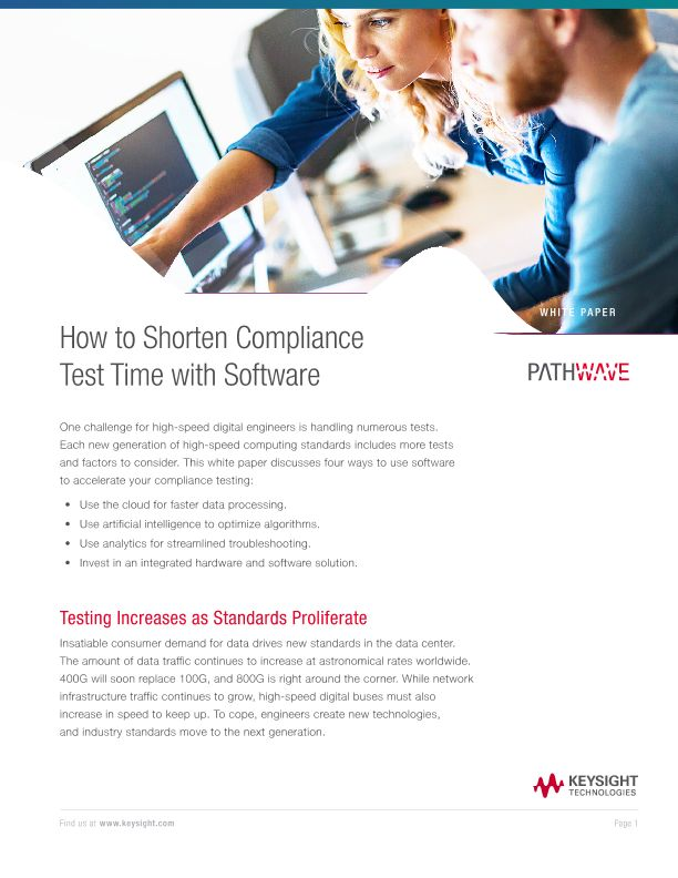 How to Shorten Compliance Test Time with Software