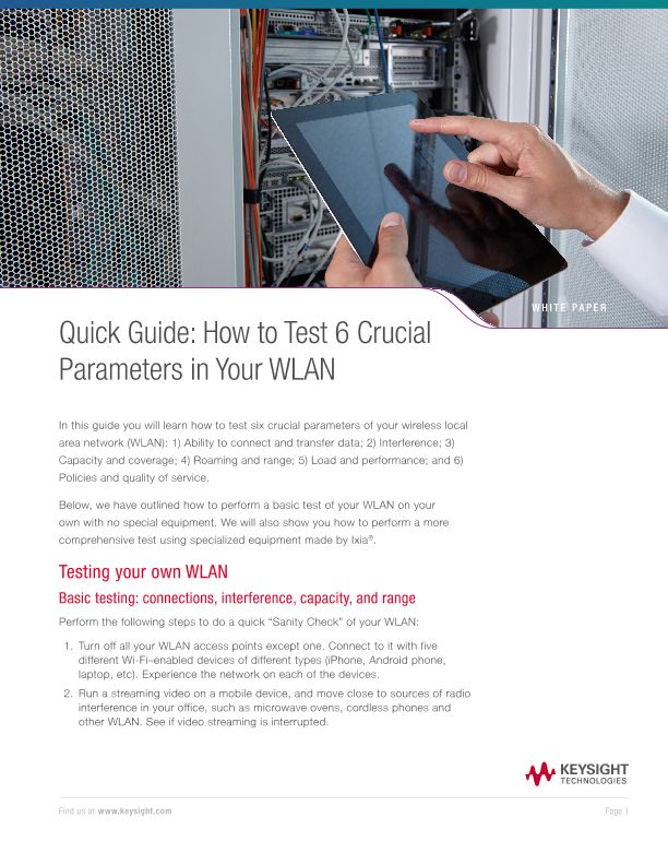 Quick Guide: How to Test 6 Crucial Parameters in Your WLAN