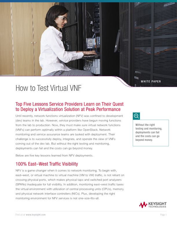 How to Test Virtual VNF