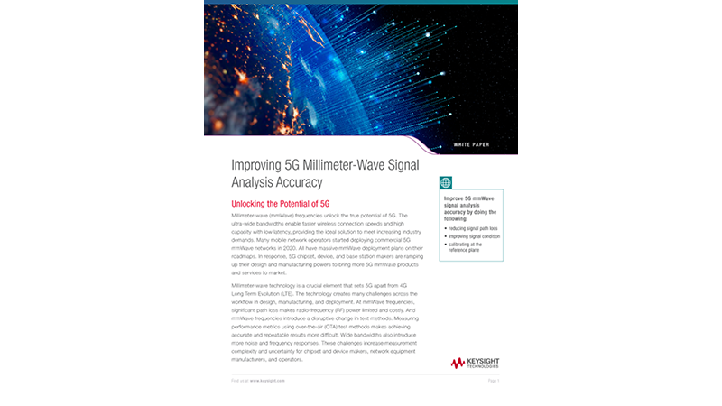 Improving 5G Millimeter-Wave Signal Analysis Accuracy