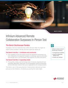 Infiniium Advanced Remote Collaboration Surpasses In-Person Test