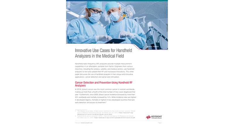 Innovative Use Cases for Handheld Analyzers in the Medical Field