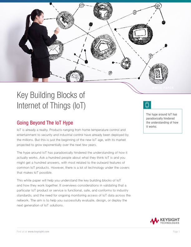 Key Building Blocks for Internet of Things (IoT)