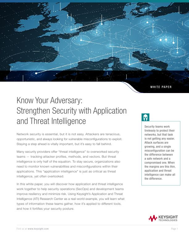 Know Your Adversary: Strengthen Security with Application and Threat Intelligence