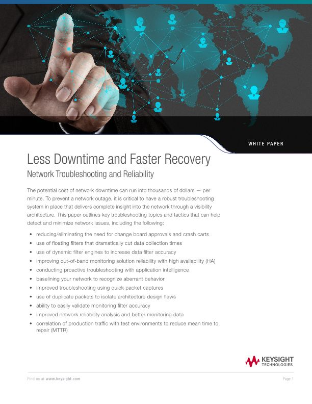 Less Downtime and Faster Recovery