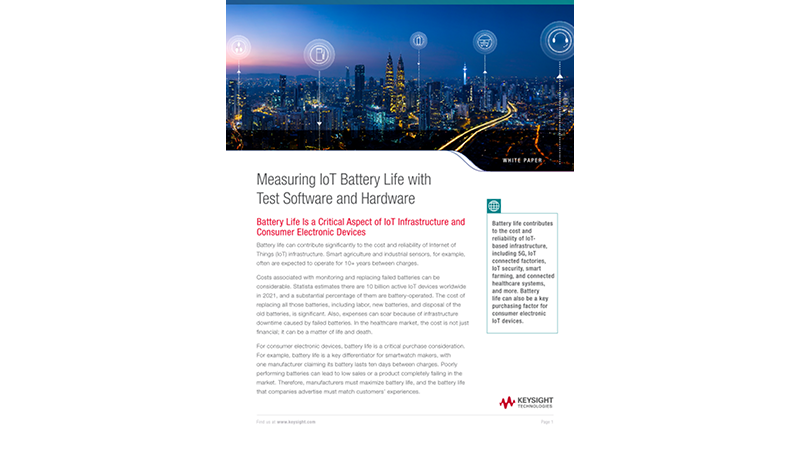 Measuring IoT Battery Life with Test Software and Hardware