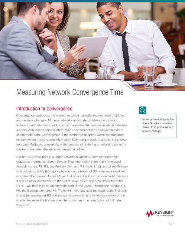 Measuring Network Convergence Time