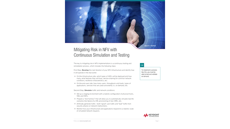 Mitigating Risk in NFV with Continuous Simulation and Testing