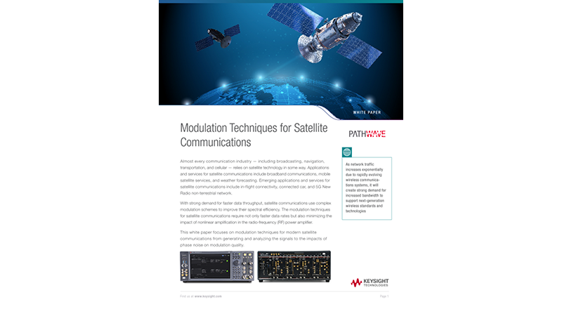 Modulation Techniques for Satellite Communications