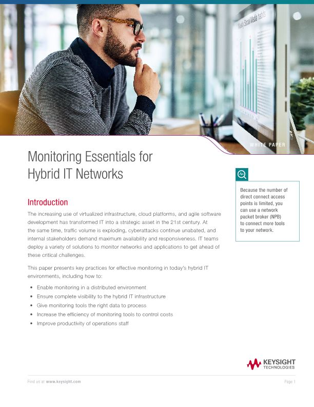 Monitoring Essentials for Hybrid IT Networks