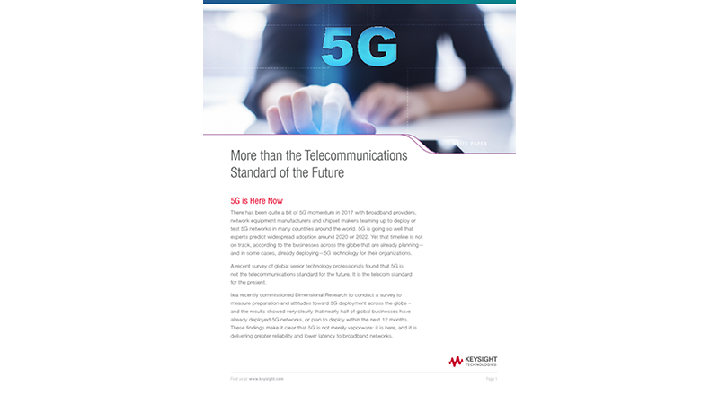 More than the Telecommunications Standard of the Future