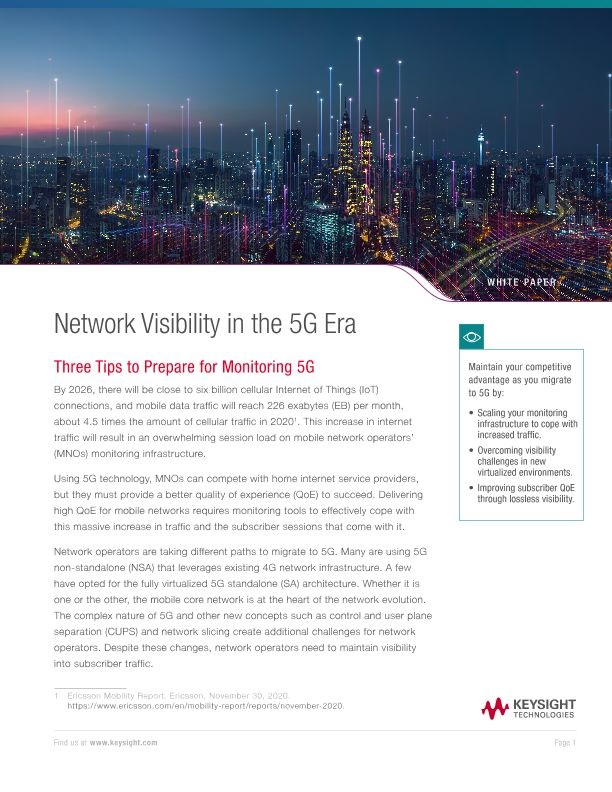 Network Visibility in the 5G Era