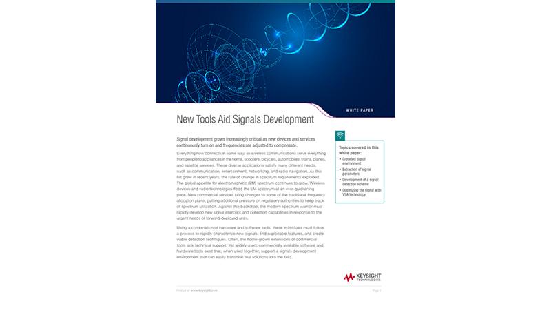 Vector Signal Analyzer (VSA) for Signal Development