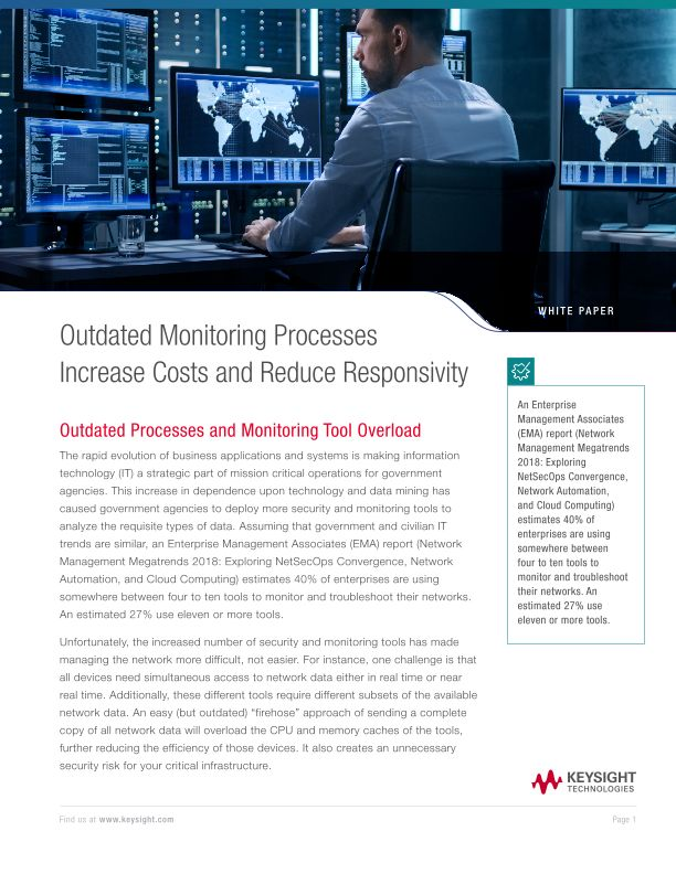 Outdated Monitoring Processes Increase Costs and Reduce Responsivity