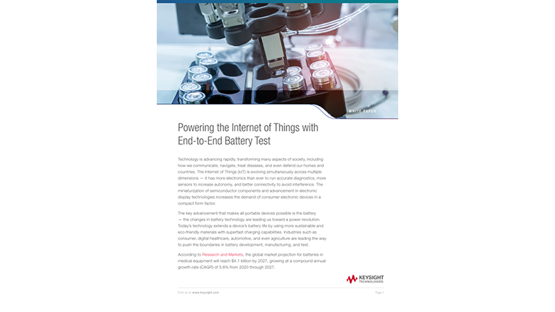 Powering the Internet of Things with End-to-End Battery Test