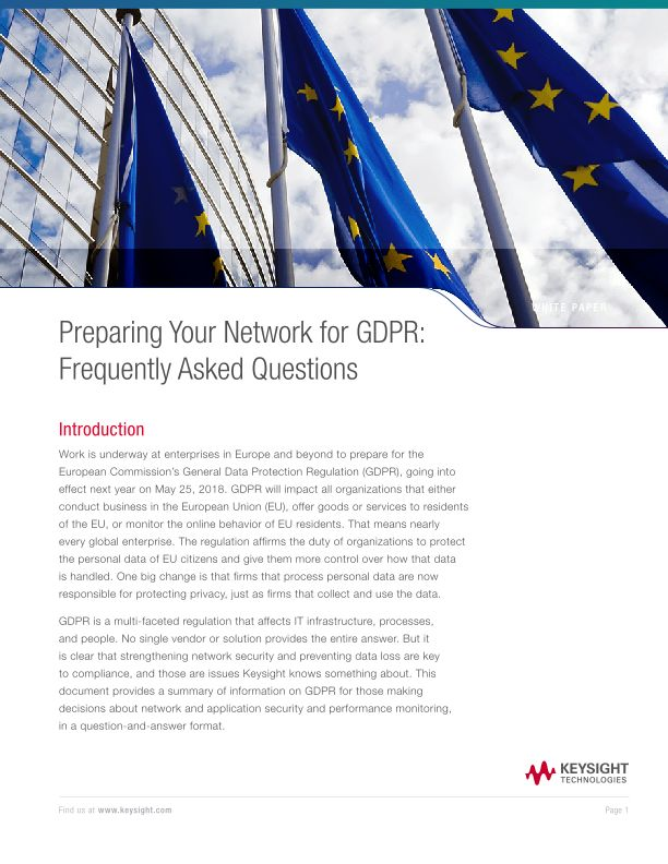Preparing Your Network for GDPR: Frequently Asked Questions
