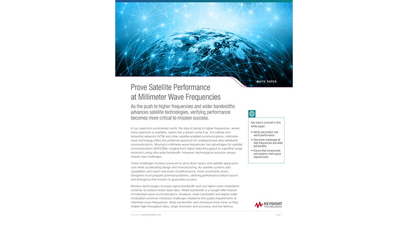 Prove Satellite Performance at Millimeter Wave Frequencies