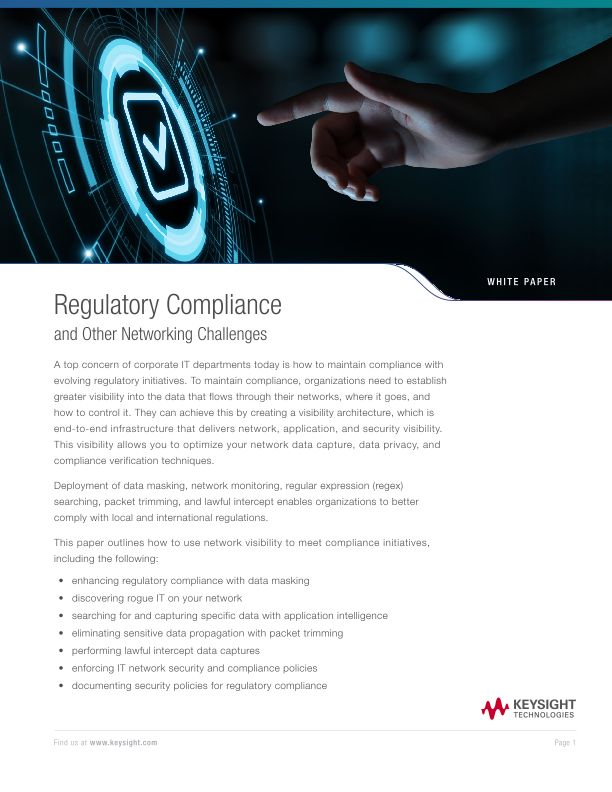 Regulatory Compliance and Other Networking Challenges