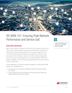 SD-WAN 101: Ensuring Peak Network Performance and Service QoE