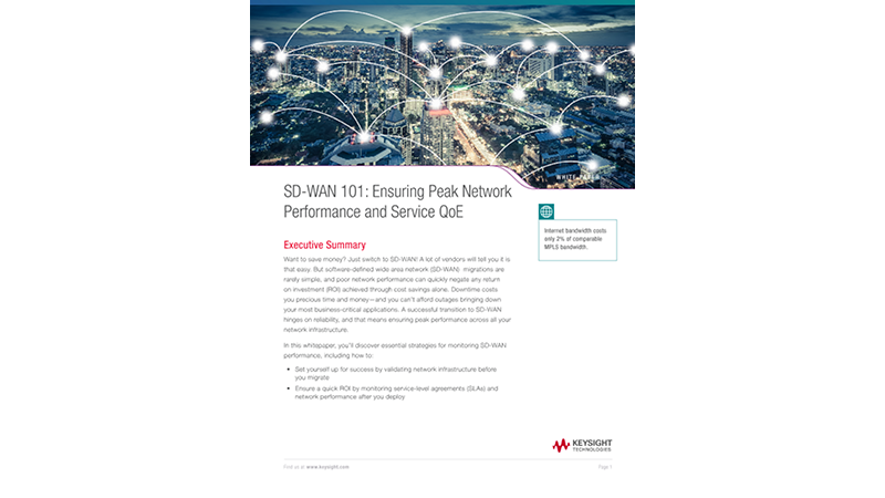 SD-WAN 101: Ensuring Peak Network Performance and Service QoE