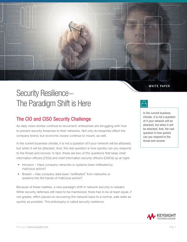 Security Resilience − The Paradigm Shift is Here