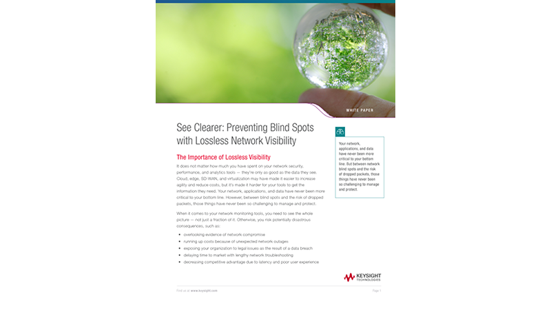 See Clearer: Preventing Blind Spots with Lossless Network Visibility
