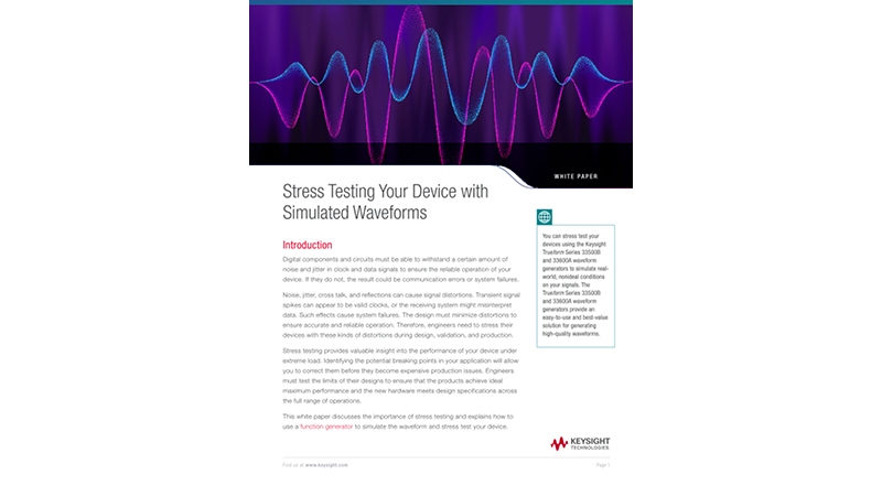 Stress Testing Your Device with Simulated Waveforms