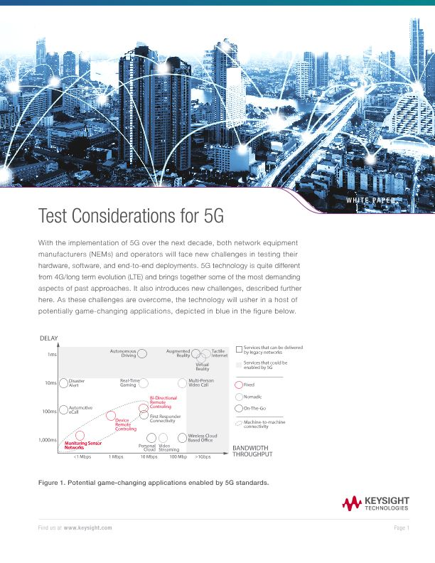 Test Considerations for 5G