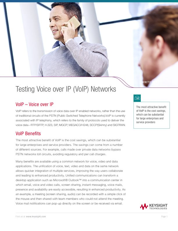 Testing Voice over IP (VoIP) Networks