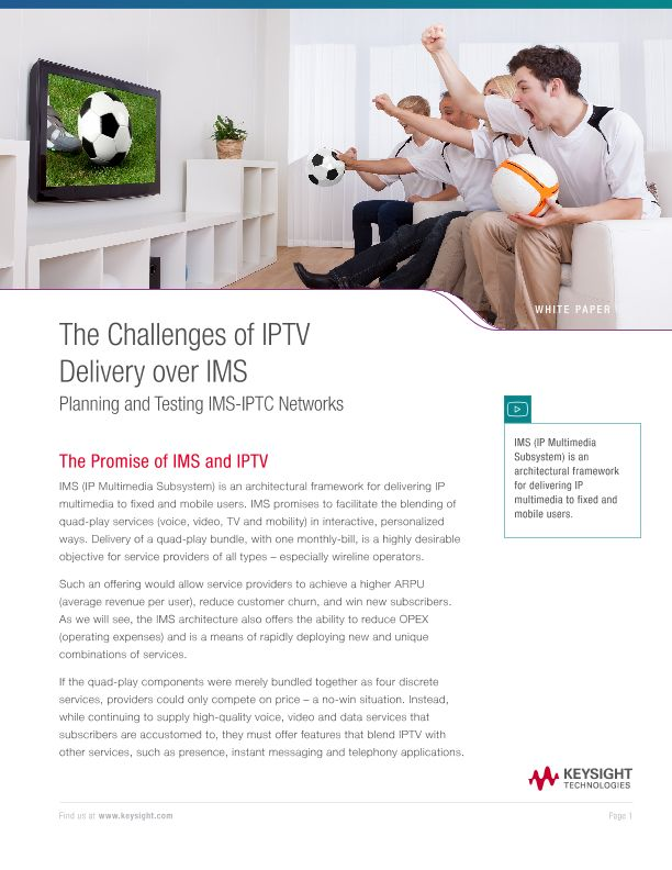The Challenges of IPTV Delivery over IMS