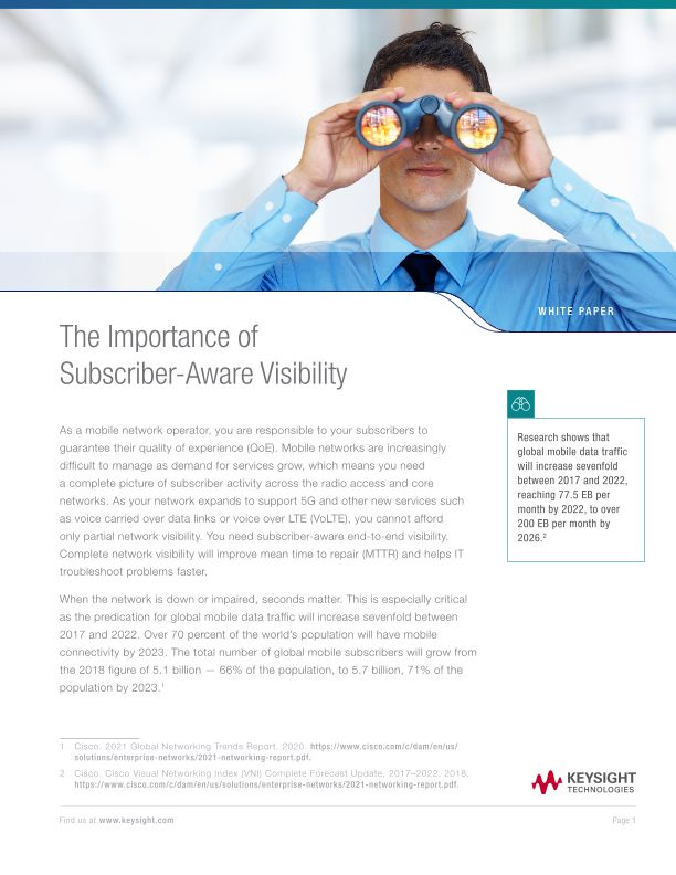 The Importance of Subscriber-Aware Visibility