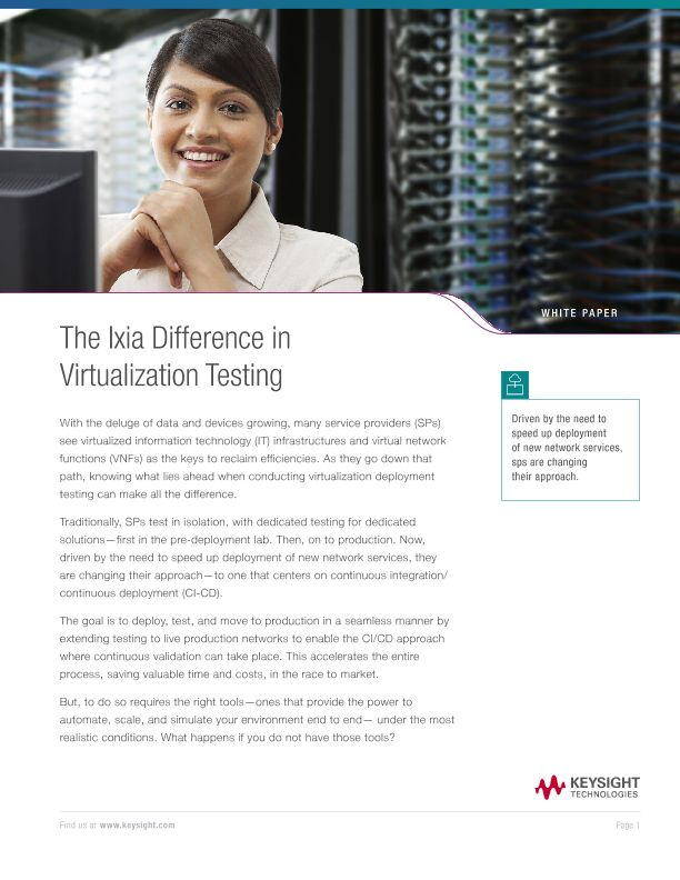 The Ixia Difference in Virtualization Testing