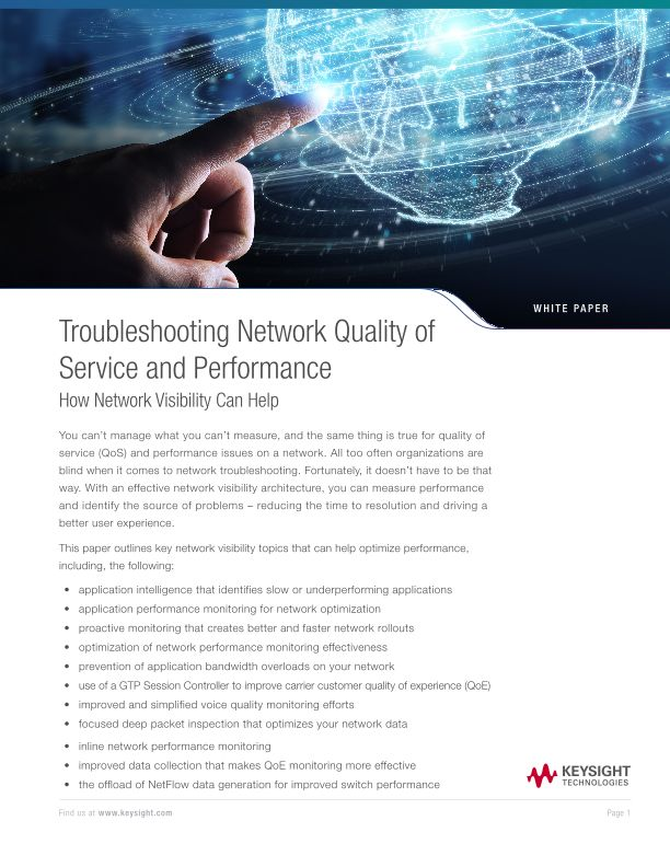 Troubleshooting Network QoS and Performance Issues