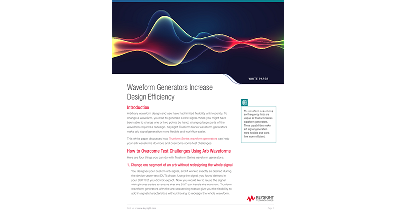Waveform Generators Increase Design Efficiency