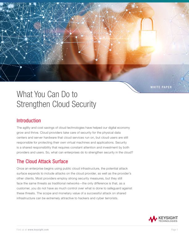 What You Can Do to Strengthen Cloud Security