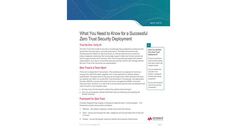 What You Need to Know for a Successful Zero Trust Security Deployment