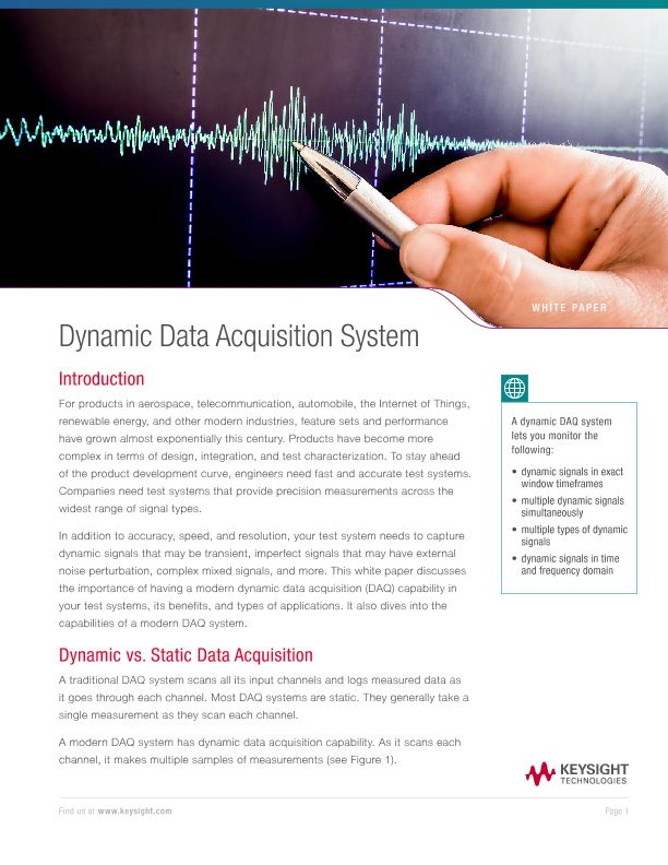 Dynamic Data Acquisition System