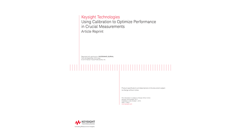 Using Calibration to Optimize Performance in Crucial Measurements