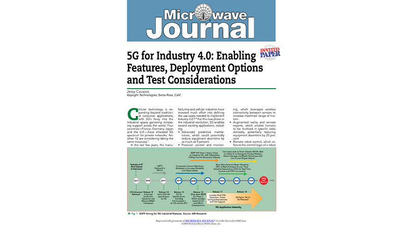 5G for Industry 4.0: Enabling Features, Deployment Options and Test Considerations