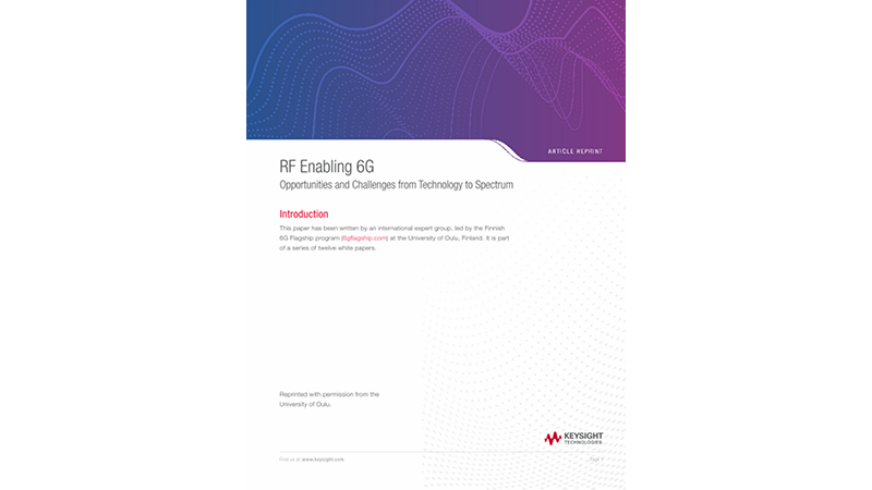 RF Enabling 6G Opportunities and Challenges from Technology to Spectrum