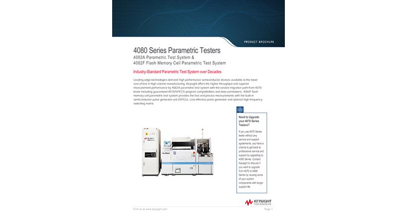 4080 Series Parametric Testers